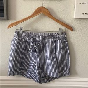 Soft and comfy tie front shorts!